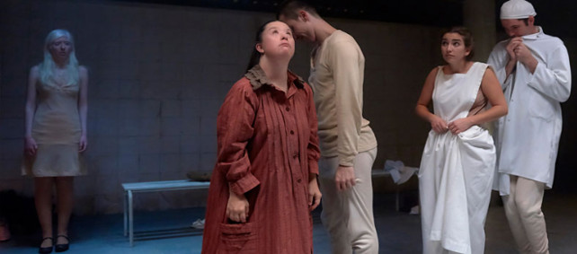 Cinco actores con discapacidad protagonizan 'Cáscaras vacías' en el Teatro María Guerrero