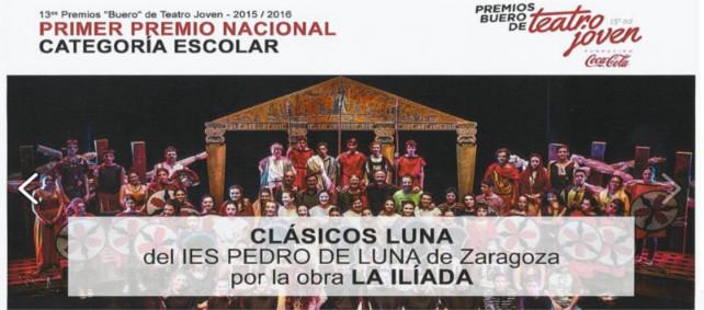Clásicos Luna gana el Premio Nacional de Teatro Joven Buero