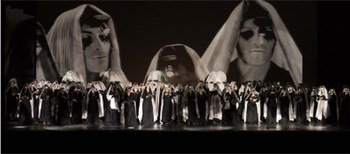 El montaje de 'Samson et Dalila' de la Fura se estrena en el Palau de les Arts