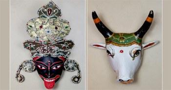 Máscaras, títeres y scrolls de La India en Madrid