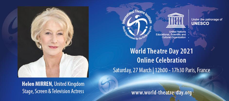 Mensaje del Día Mundial del Teatro, escrito por Hellen Mirren
